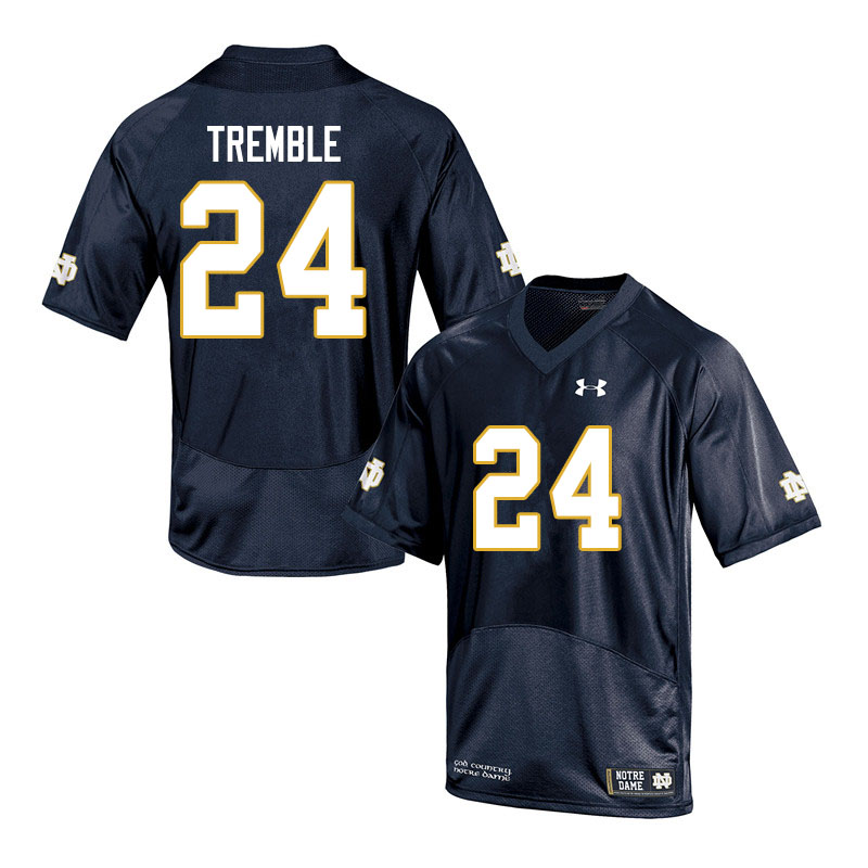 Men #24 Tommy Tremble Notre Dame Fighting Irish College Football Jerseys Sale-Navy