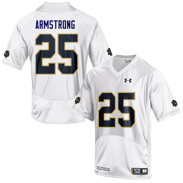 Men #25 Jafar Armstrong Notre Dame Fighting Irish College Football Jerseys Sale-White