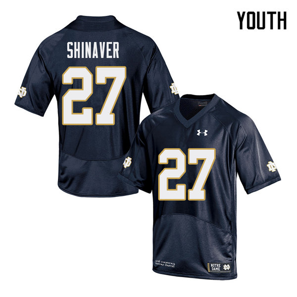Youth #27 Arion Shinaver Notre Dame Fighting Irish College Football Jerseys Sale-Navy