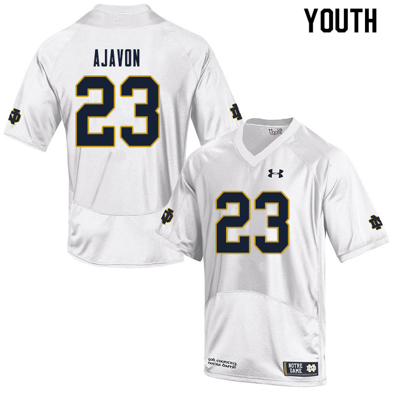 Youth #23 Litchfield Ajavon Notre Dame Fighting Irish College Football Jerseys Sale-White